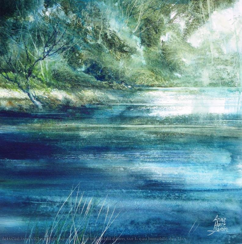 Artwork >> Anne Huet Baron >> Meditations on l' still water of lakes
