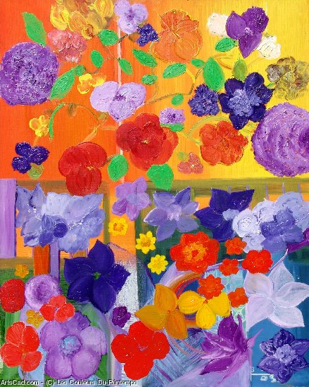 Artwork >> Les Couleurs Du Printemps >> window on opened  out of  out a  Spring