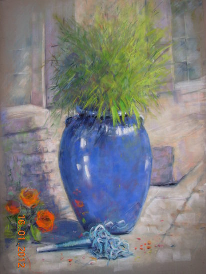 Artwork >> Michele Frot >> The blue pot