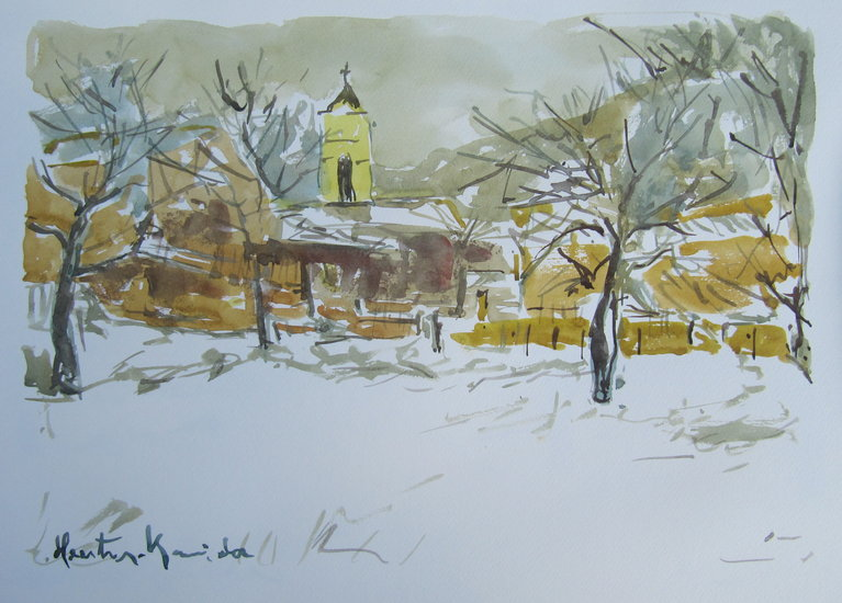 Artwork >> Heritier-Marrida >> WATERCOLOR IN CORSICA / DI SAN PEDRU VENACU