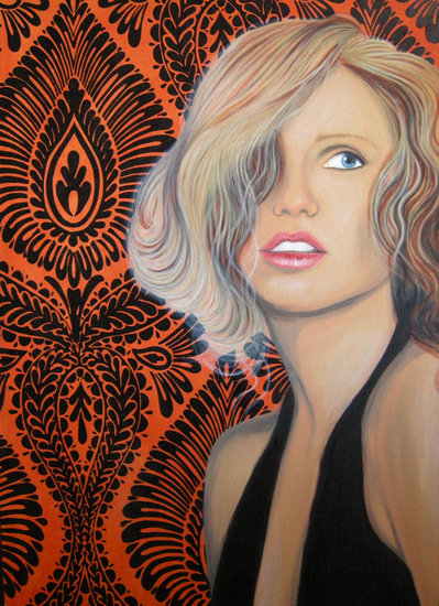 Artwork >> Marina Gigante >> orange background