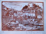 Heritier-Marrida - LANDSCAPES Corsica  engraving  out of  Wooden
