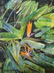 Derek Mccrea - Bird of Paradise 2 Tropical Flower Painting