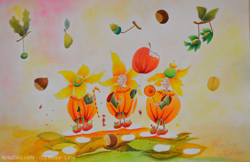Artwork >> Rosy- Line >> Three goblins folichons
