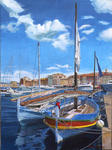 Jean-Louis Barthelemy - Old boats at Saint-Tropez