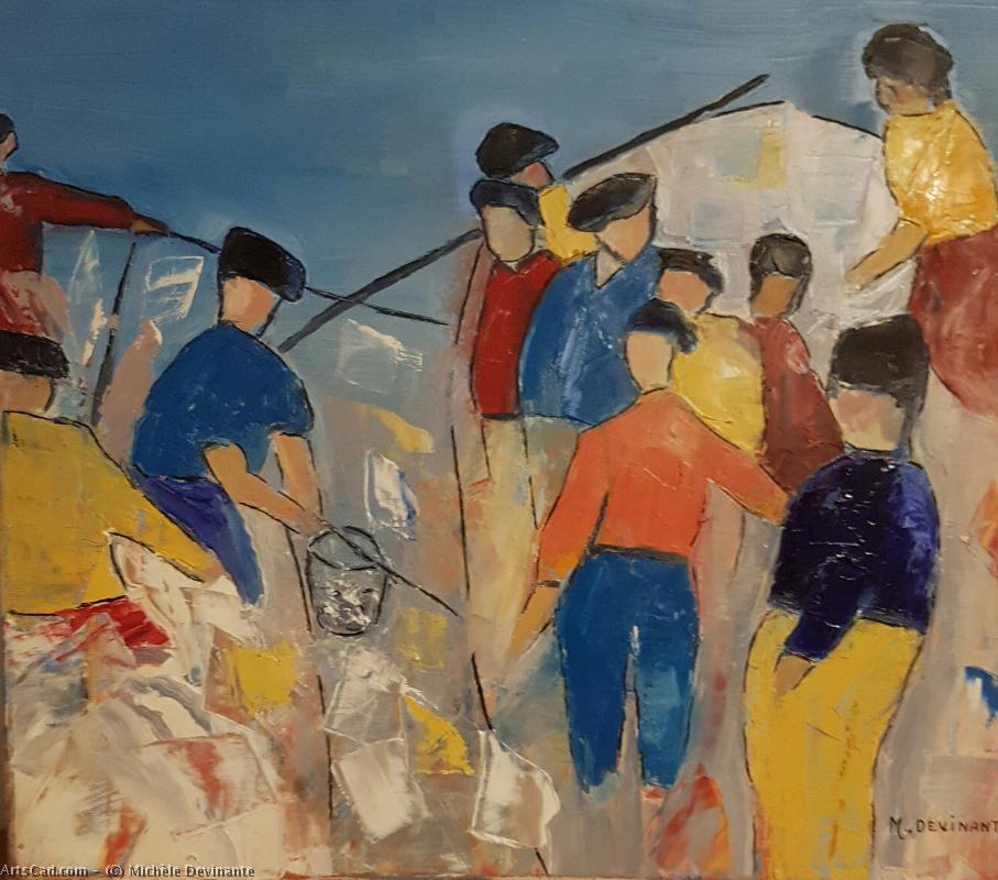 Artwork >> Michèle Devinante >> The sailors  fishermen