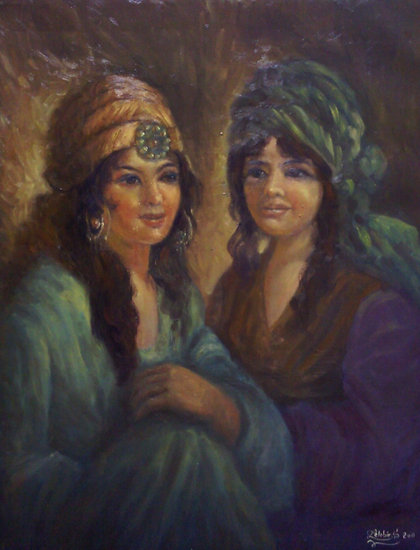 Artwork >> Lekbir Salah >> two girl