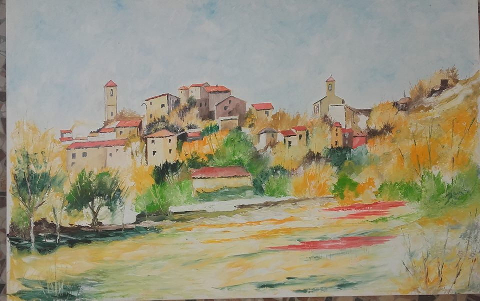 Artwork >> Charles Lepeintre >> up in Luberon
