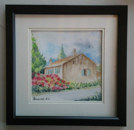 Artwork >> Joelle Beuscart >> House and lilac