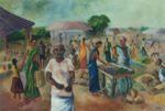 Classical Indian Art Gallery - VEGETABLE MARKET
