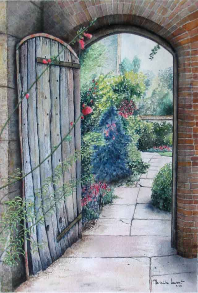 Artwork >> Marie-Line Laurent >> the door of the  garden