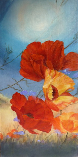 Artwork >> Gisèle Grana >> Poppies