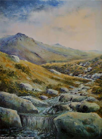 Artwork >> David Mather >> Tavy cleave