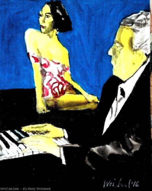 Artwork >> Harry Weisburd >> Pianist and Muse