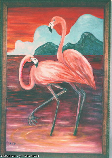 Artwork >> Yefim Shestik >>  Flamingos