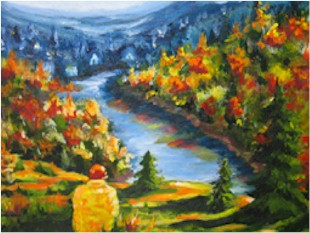 Artwork >> Denise Gagnon >> clear up and  autumn