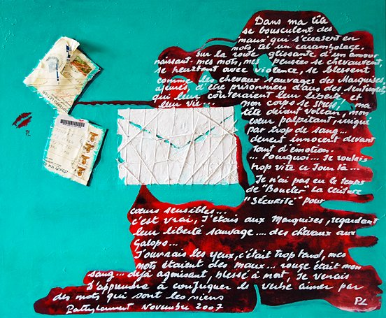 Artwork >> Patty Laurent >> words on with  of  ill