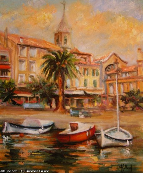 Artwork >> Francoise Galland >> the port of Sanary