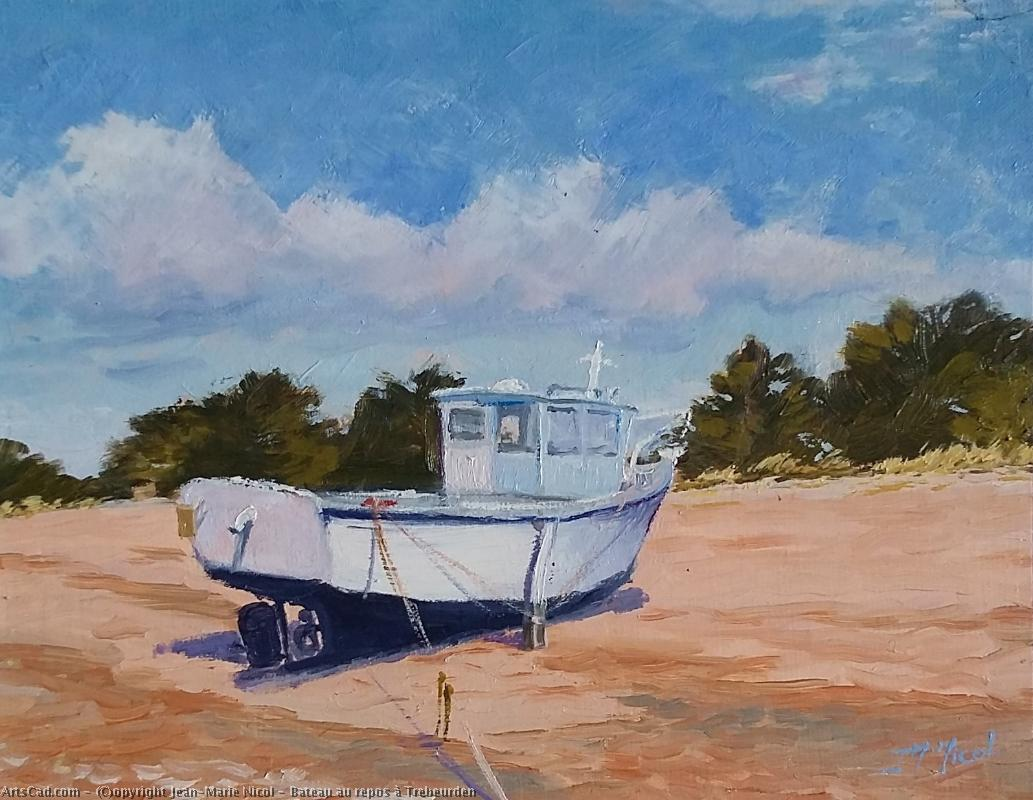 Artwork >> Jean-Marie Nicol >> Boat at repos Trebeurden