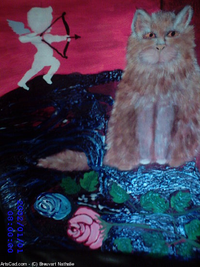 Artwork >> Breuvart Nathalie >> cat romantic