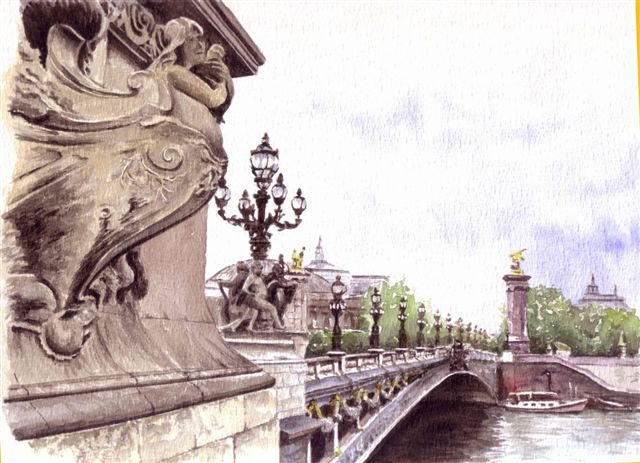 Artwork >> Hauet Gérard >> Alexandre iii bridge