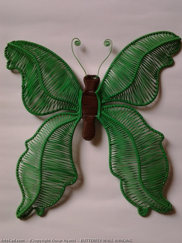 Artwork >> Oscar Nyathi >> BUTTERFLY WALL HANGING