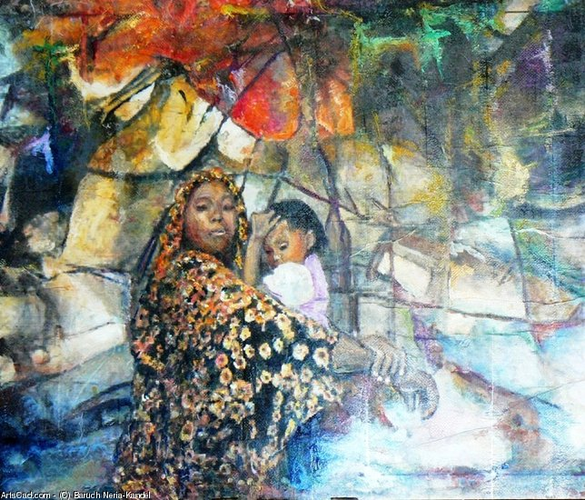 Artwork >> Baruch Neria-Kandel >> African women and child