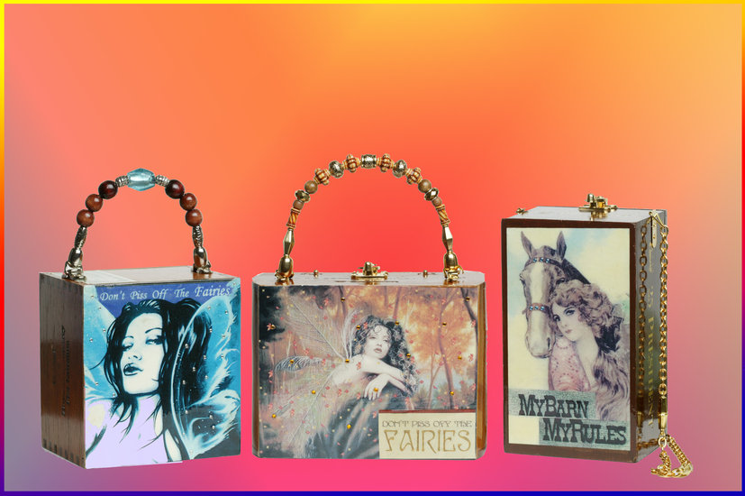 Artwork >> Cigar Box Purses >> Fairies and Horse