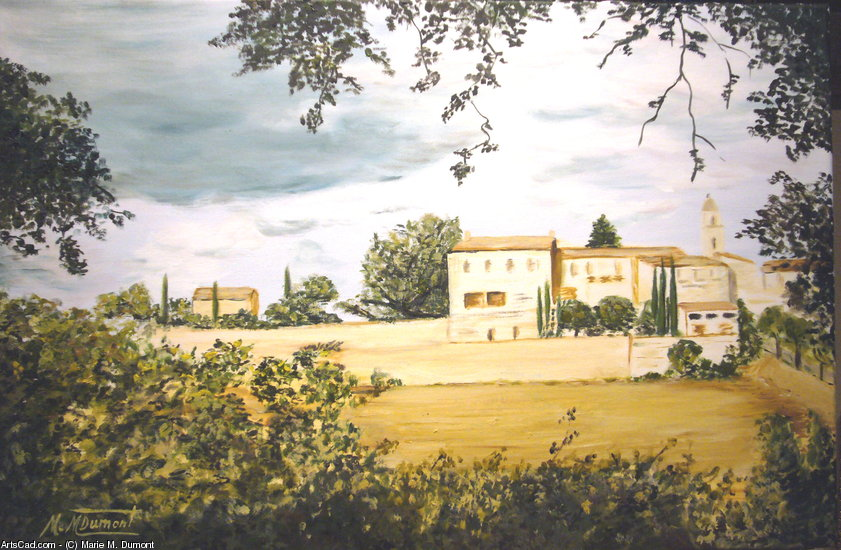 Artwork >> Marie-Mathilde Dumont >> Maubec ( Luberon ) - The castle