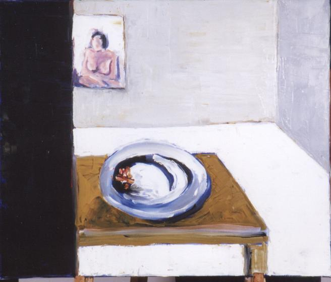 Artwork >> Moti Sagron >> Empty Plate in Room