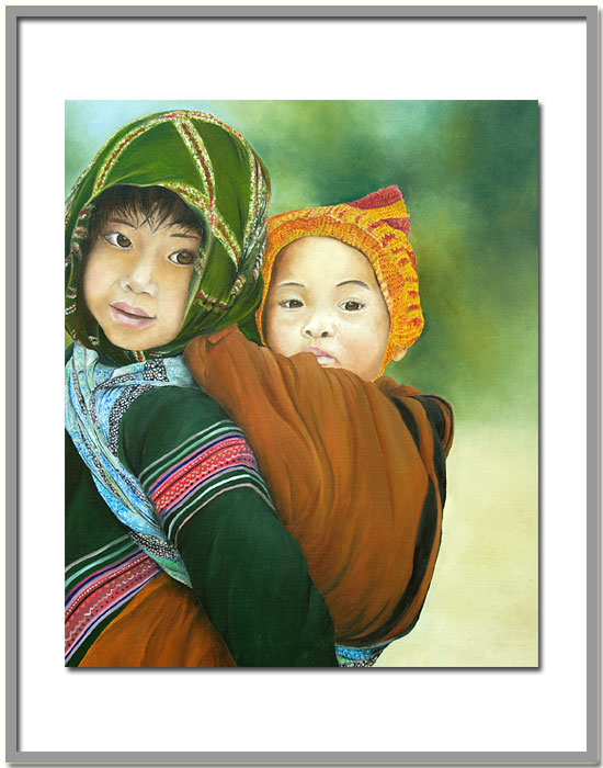 Artwork >> Marie-Claire Houmeau >> the children Meo ( Vietnam )