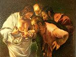Adina Lupan - Reproduction Caravaggio - The incredulity of St. Thomas