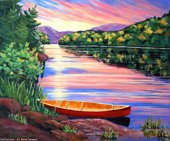 Artwork >> Reine Deveault >> At the park from there Mauricie