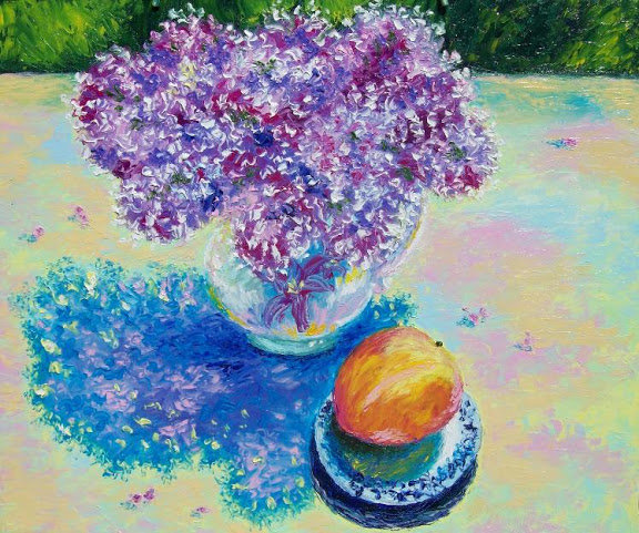 Artwork >> Artist Musina Julia >> Lilac and Peach. Lilac and peach.