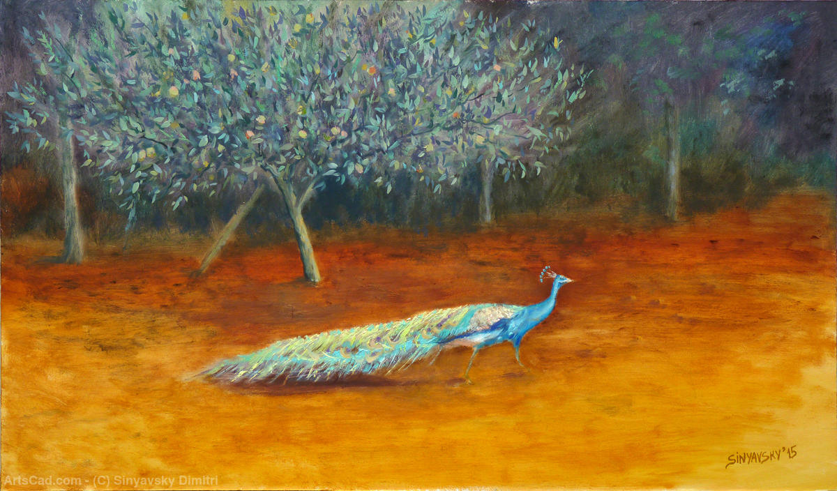Artwork >> Sinyavsky Dimitri >> The peacock blue and apple