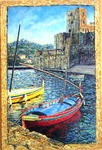 Christine Navarro-Fruit - boats collioure