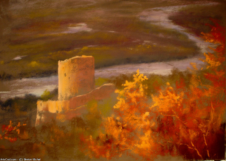 Artwork >> Breton Michel >> ruin of  edge  from  Sein