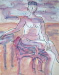 Laura Shepardson - seated woman