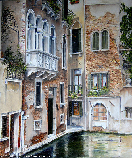 Artwork >> Marie-Claire Houmeau >> Venice at the balcony