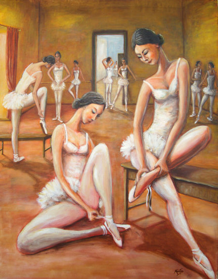 Artwork >> Mártio - Mário Martins >> DANCERS - before the dance class