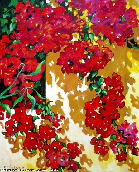 Artwork >> Antoine Molinero - Peintre >> Bougainvillea at CHRISTINE