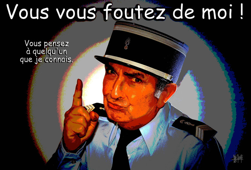 Artwork >> Yves De Closets >> tribute to louis de funes