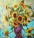 Vladimir Domnicev - Sunflowers. Splices reality and dream