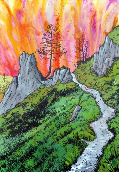 Artwork >> Aimetti Sylvain >> The Trail