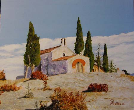 Artwork >> Jean-Claude Selles Brotons >> the chapel St Sixtus to eygalière ( in provence )