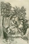 James Stow - Martin Schnonauger  -Flight into Egypt- Engraving