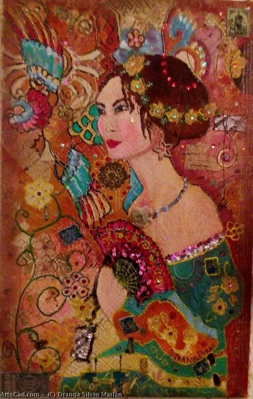 Artwork >> Dranga Silviu Marian >> Woman with fan
