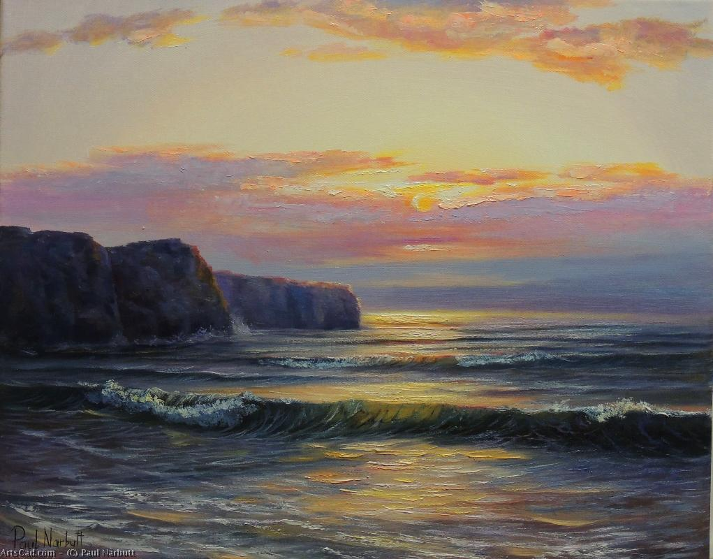 Artwork >> Paul Narbutt >> Sunset on the rocks