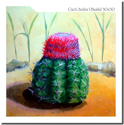 Artwork >> André Kock >> cacti on Aruba (bushi)