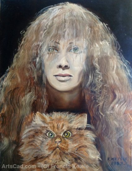 Artwork >> Francis Ketele >> Cat and mistress